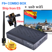 FRASKOO F9 Plus COMBO Satellite Receiver Digital DVB T2 DVB S2 Full HD 1080p Support H.265 support CCcam with USB Wifi