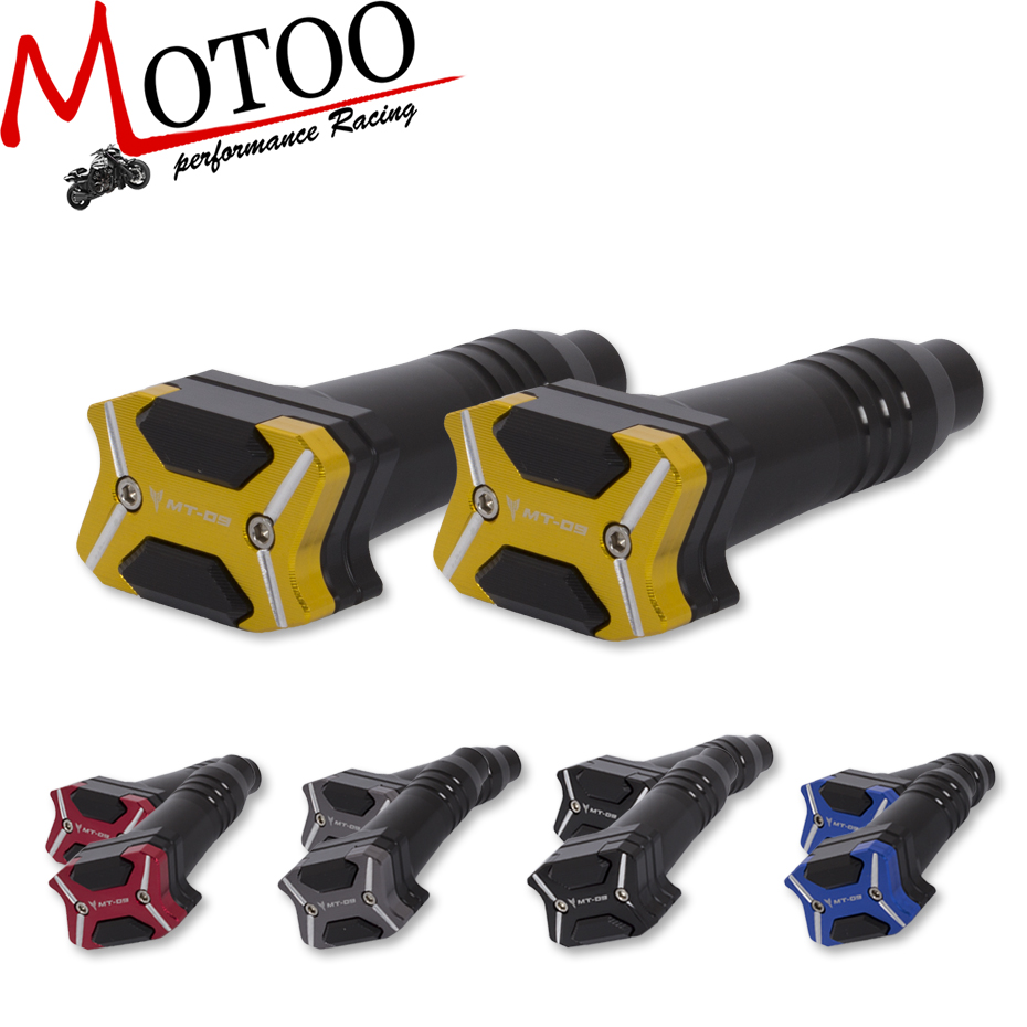 Motoo - Free Shipping 2017 NEW CNC Aluminum Motorcycle Frame Slider Anti Crash pads Protector For YAMAHA MT-09 MT09 2014-2016 laser logo fz6 for yamaha fz6 fazer 2006 2010 2007 2008 2009 cnc motorcycle frame crash slider protector drop resistance