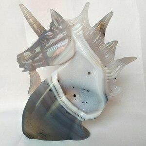 Image 3 - Sculpture créative en pierre naturelle, cristaux dagate, sculpture créative, décoration pour la maison, noble et pure