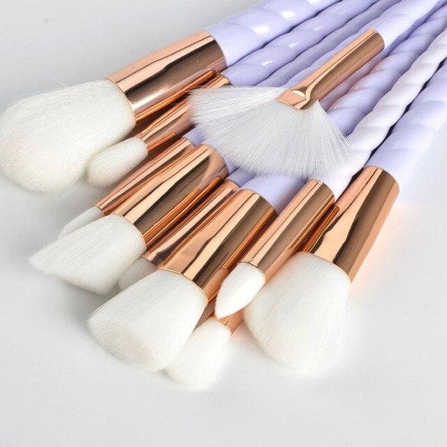 Hot 10pcs Unicorn Makeup Brushes Set Foundation Eyeshadow Base Powder Blush Blending Brushes Makeup Brush Cosmetic Tools 3