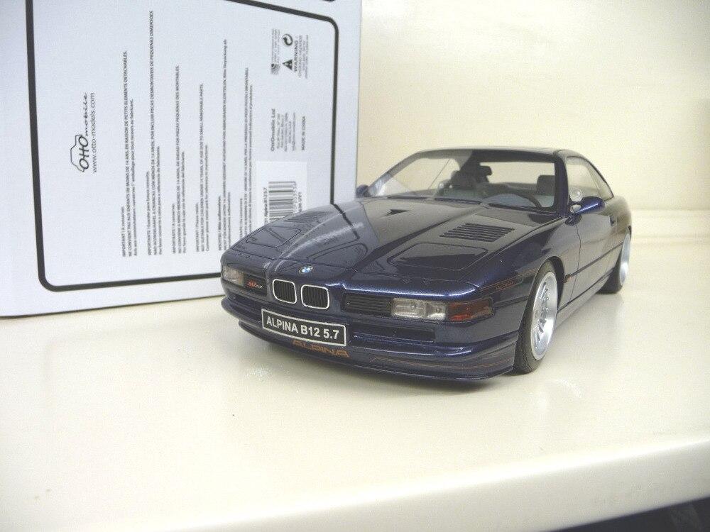 * 1:18 Car Model OTTO Audi 850 Alpina B12 E31 royal blue Resin Model Classic Toys Car Replica Luxury Collections 1 18 otto renault espace ph 1 2000 1 car model reynolds
