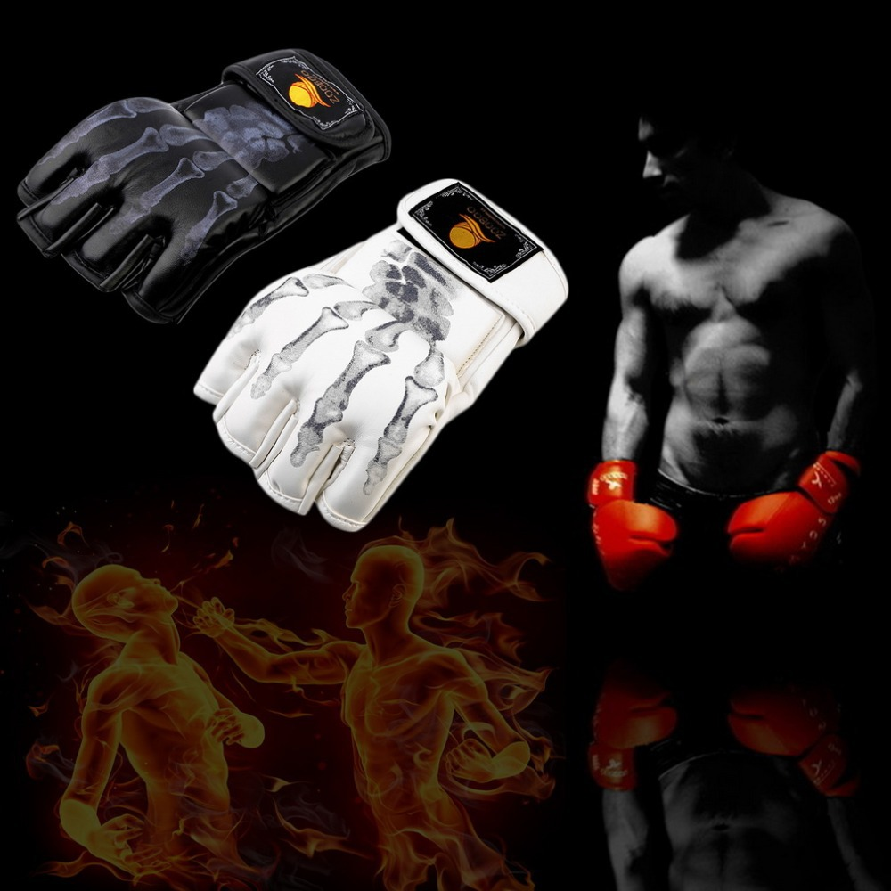 1 pair Boxing font b Gloves b font MMA Sparring Grappling Fight Boxing Punch Ultimate Mitts