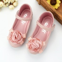 2017 Korean Sweet Style Kids Wedding Leather Shoes Princess Girls School Party Shoes Fation Casual Girls