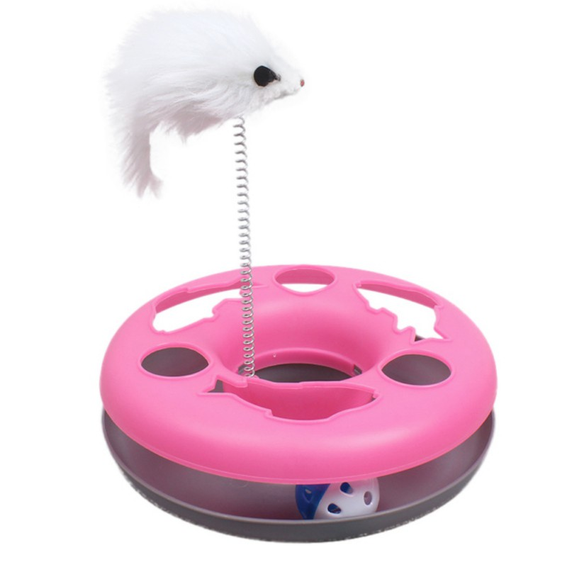 Mice Crazy Cat Toys Multifunctional Disk Amusement Disk Play Funny Activity Toys For Pet Dogs