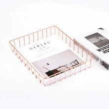 Модный офисный Золотой Розовый Золотой А4 держатель для файлов металлический органайзер для журналов