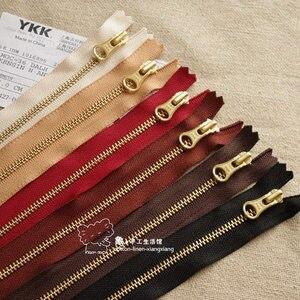 Кожаные товары ручной работы, аксессуары для кошелька 3 YKK, золотистая и медная металлическая застежка-молния 17 ~ 25 см 10/Сумка