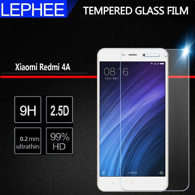 US $1 55 22% OFF|LEPHEE Glass For Xiaomi Redmi 4A Tempered Glass Redmi 4 A  Screen Protector for Xiomi Redmi 4A Protective Glass Film 5