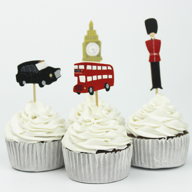 24pcs Big Ben And Soldiern Cupcake Topper Picks,birthday/wedding ...