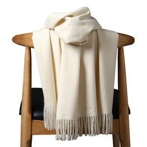 Image 1 - Высококачественный кашемировый шарф для женщин и мужчин, толстое теплое зимнее пончо, роскошный шерстяной Пашмина, женский длинный зимний шарф, шаль, палантин