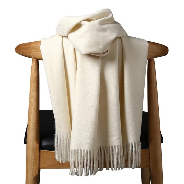 Высококачественный кашемировый шарф для женщин и мужчин, толстое теплое зимнее пончо, роскошный шерстяной Пашмина, женский длинный зимний шарф, шаль, палантин