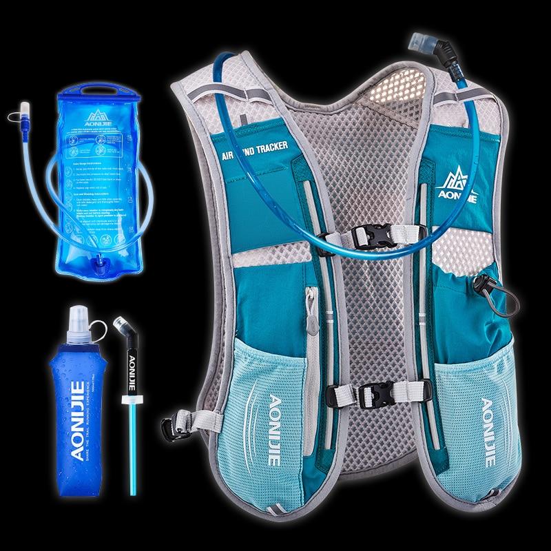 AONIJIE 5L hydratation sac à dos sac à dos gilet harnais pour 1.5L eau vessie randonnée Camping course Marathon course Sports