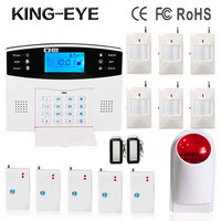 Russian Spanish Polish Voice Prompt 433MHz Wireless GSM Sms Alarm System For Home Security Anti Theft