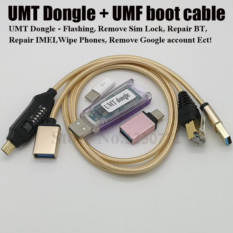 New version UMT Dongle 2 UMT Key 2+ UMF Boot cable for Samsung Huawei LG ZTE Alcatel Software Repair and UnlockingNew version UMT Dongle 2 UMT Key 2+ UMF Boot cable for Samsung Huawei LG ZTE Alcatel Software Repair and Unlocking