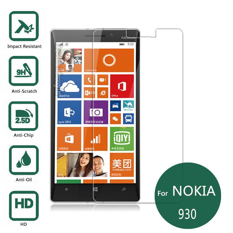 For font b Nokia b font lumia 930 Tempered Glass Film 0 26mm 2 5 9h