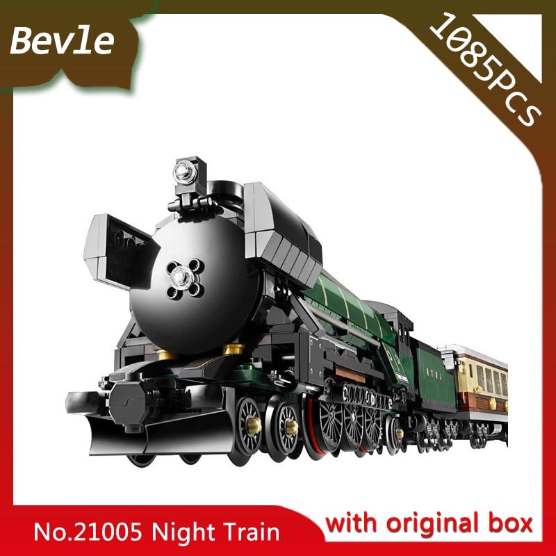 ФОТО LEPIN 21005 1085Pcs with original box Technic Series Emerald Night Train Model Building Block Bricks set Toys Compatible 10194