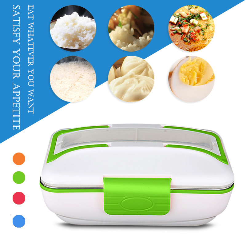 newly electric lunch box food heater warmer portable stainless steel for home office