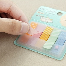 Polyester film DIY creative self-adhesive decoration notes convenient sticky paper kawaii Korean office stationery Student gifts