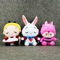 20 см Аниме Kawaii Плюшевые Игрушки Алиса в Стране Чудес Мягкие игрушки Алиса Чеширский Кот Белый Кролик Куклы Игрушки для Детей подарок