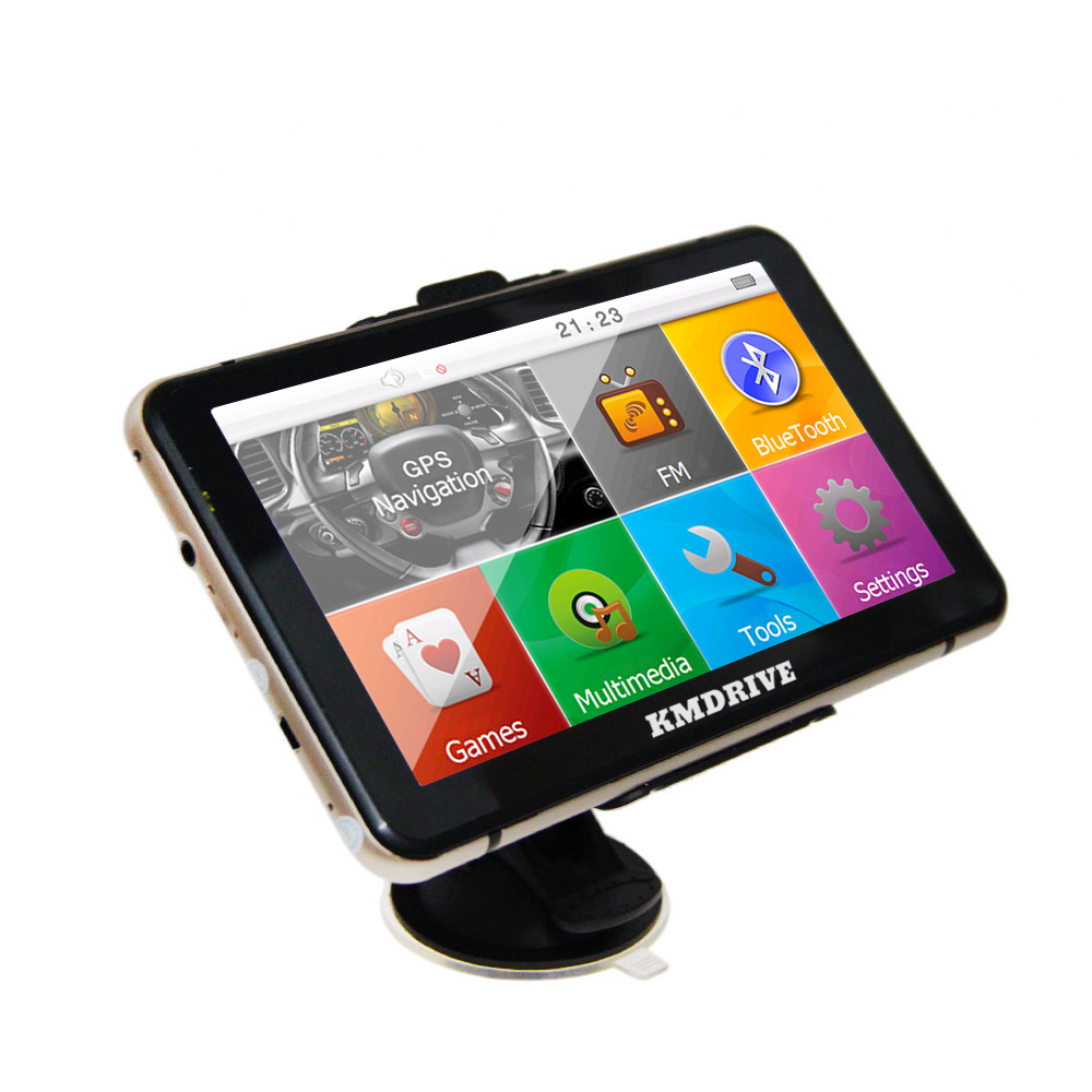 "KMDRIVE 7"" Touch Screen Car GPS Navigation Bluetooth AV IN"