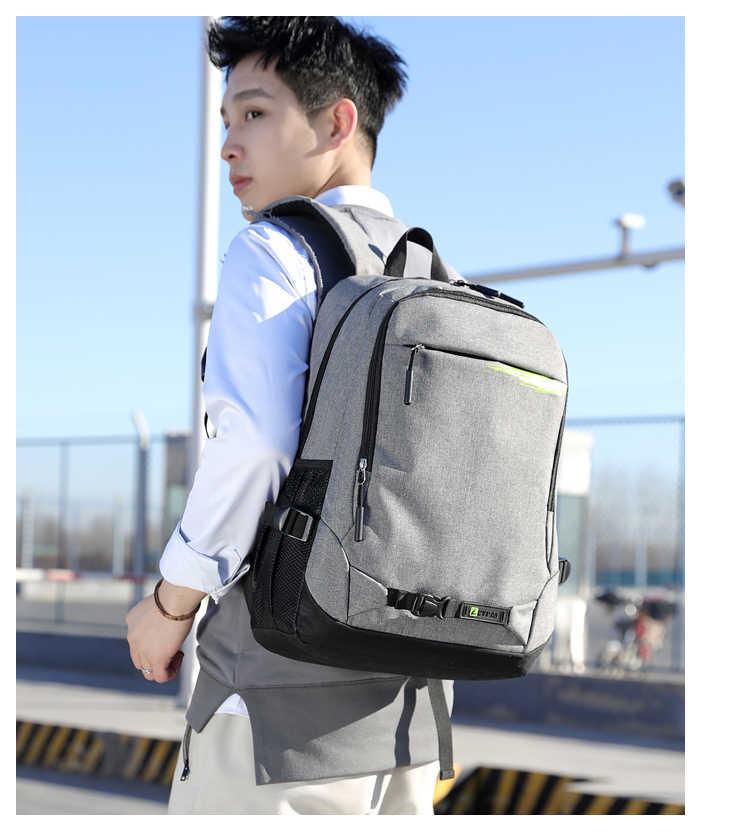 Подходит 15,5 дюймов рюкзак для ноутбука usb зарядка Противоугонный рюкзак мужской рюкзак для путешествий Водонепроницаемый школьный мужской рюкзак Mochila