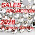 Alta Qualidade ss3-ss40 Cristal Flatback Claro Strass Strass Todos Os Tamanhos Misturados 2028 Non Hotfix Redondas para Nail Art Telefone DIY