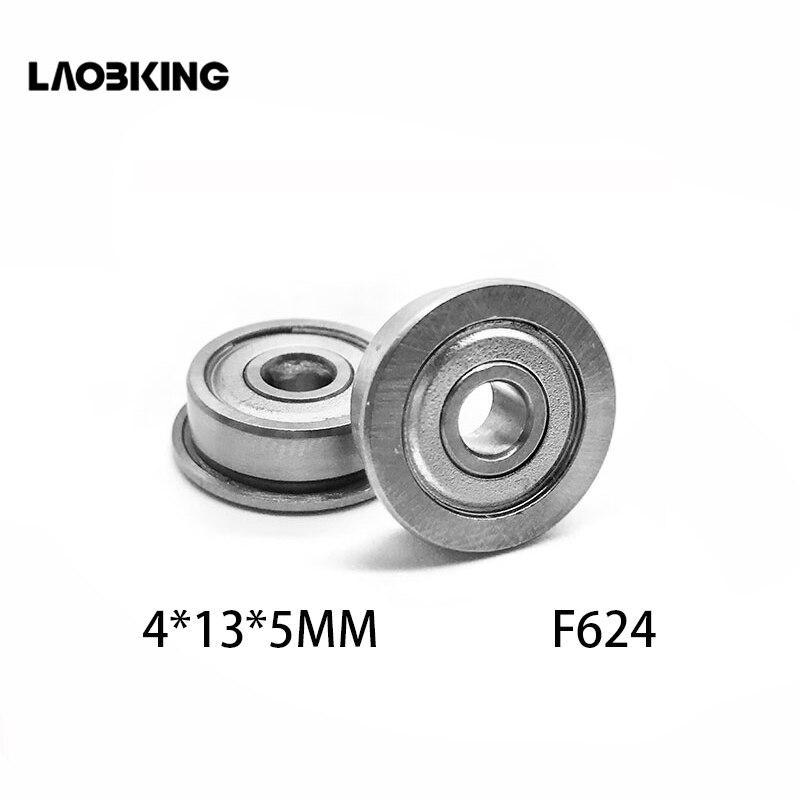 5PCS F624 F624ZZ Shielded Model Flange Bearing 4 x 13 x 5mm