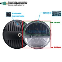 36w for jeep wrangler Headlights plug&play 7Inch LED H4 Projector Headlamps Lights For Land Rover 90/110 Defender Td5