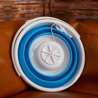 Мини Портативный ультразвуковой турбины стиральная машина Складной Тип Ведра USB Прачечная машина для стирки одежды очиститель для дома пут...
