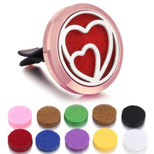 New Heart Car Air Diffuser Stainless Steel Vent Freshener Car Essential Oil Diffuser Perfume Aromatherapy Necklace Open Locket(China)