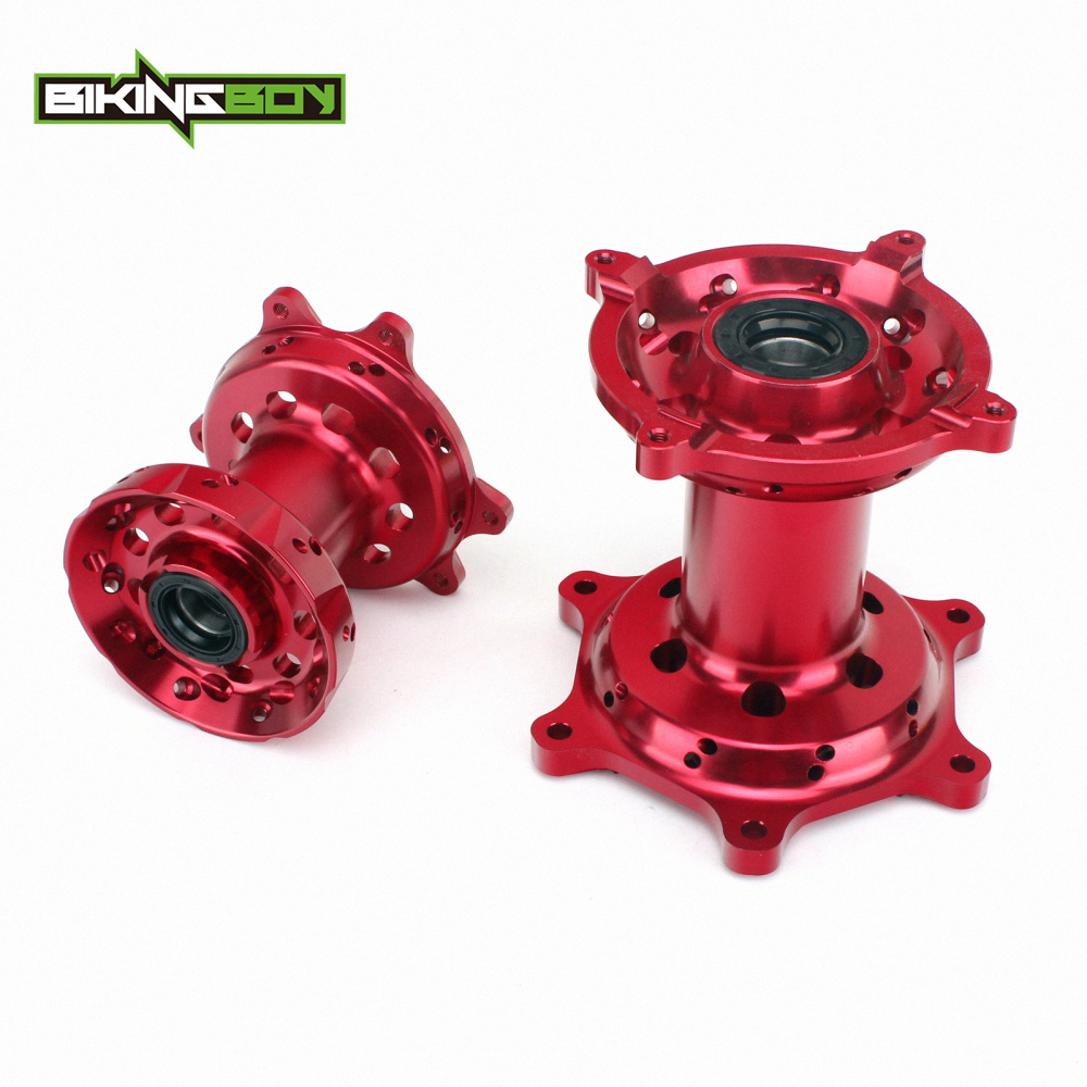 BIKINGBOY CNC Full Set Front Rear Wheel Hub 36 Holes For HONDA CR 125 250 R 02-13 CRF250R 04-13 CRF450R 02-12 <font><b>CRF250X</b></font> CRF450X image