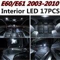 17 шт. Х бесплатная доставка Ошибка Бесплатный LED Интерьер Свет Комплект Пакет для BMW E60 E61 2003-2010