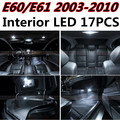 17 pcs X frete grátis Livre de Erros LED Interior Luz Kit Pacote para acessórios BMW E60 E61 2003-2010