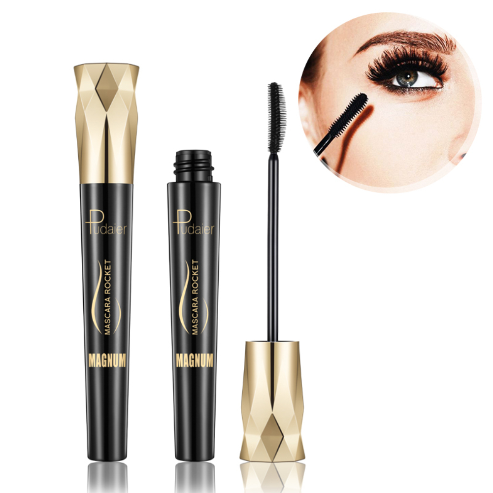 Pudaier 4D Silk Fiber Eyelash Mascara Waterproof Curling Eyelashes Thick Lengthening Lash Extension Mascara Maquiagem TSLM2
