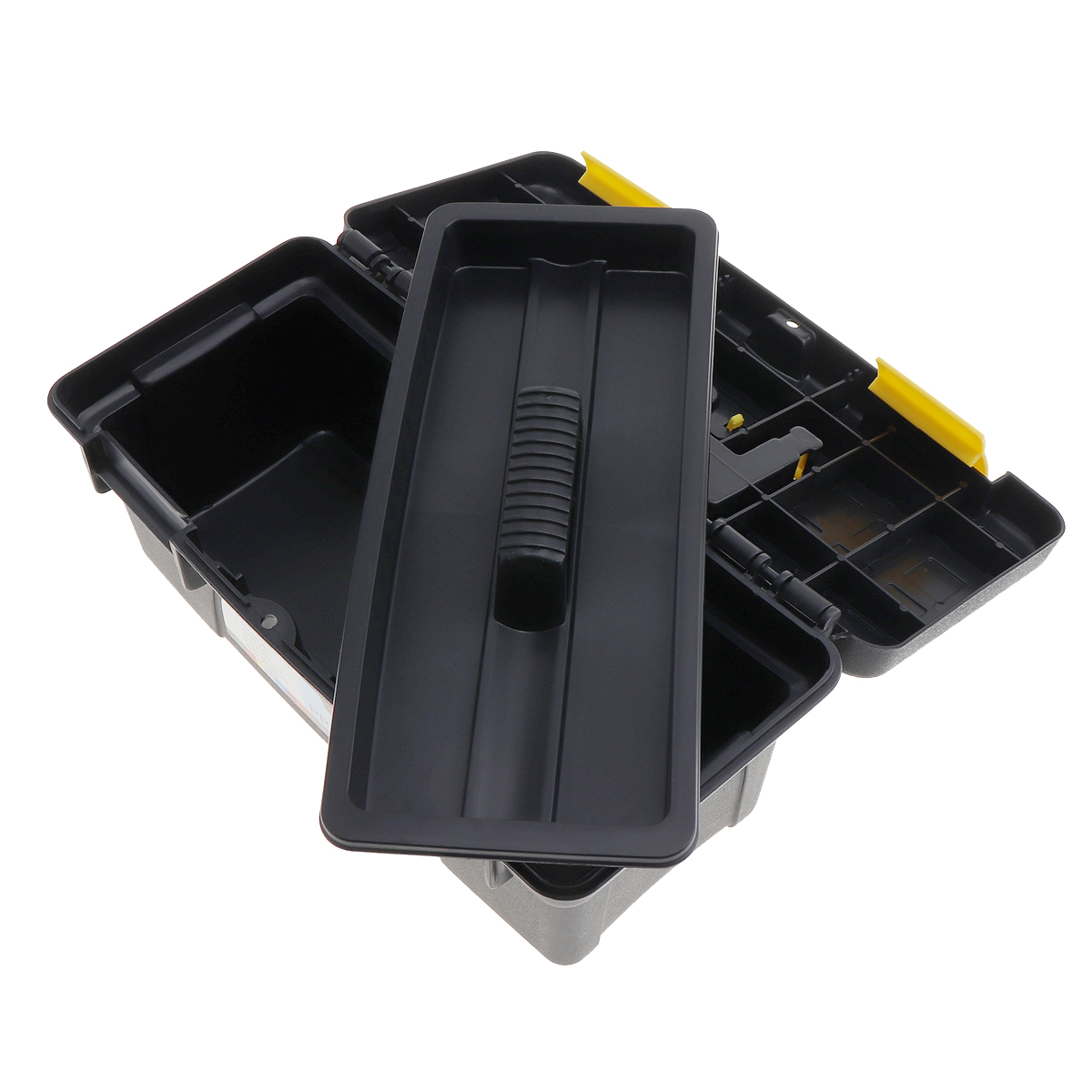 10Protable Multifunctional Tool Box with Removable Two-Layer Tobe Tray Tool Kit for Home/ Workshop Collect