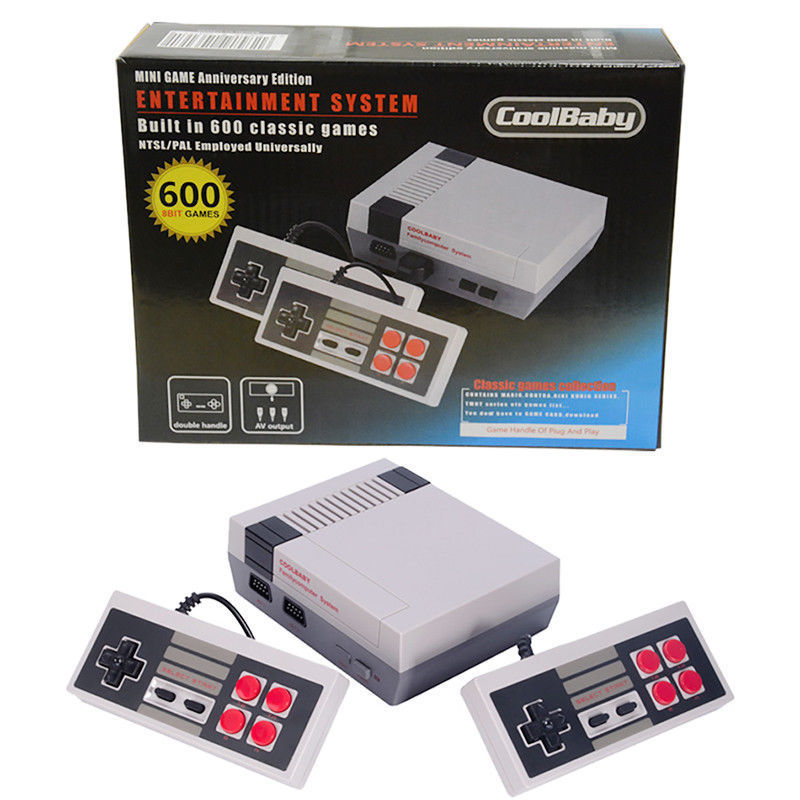AV/HDMI NES Mini Classic Edition Retro Video Games Console with 2 Controllers Built-in 600 Classic Nintendo Games