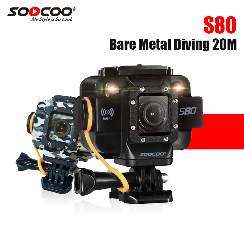 SOOCOO S80 sport camera with 1.5 Screen waterproof to 20m without a housing support external mic starlight go action camera pro свитшот print bar go to valhalla with ragnar