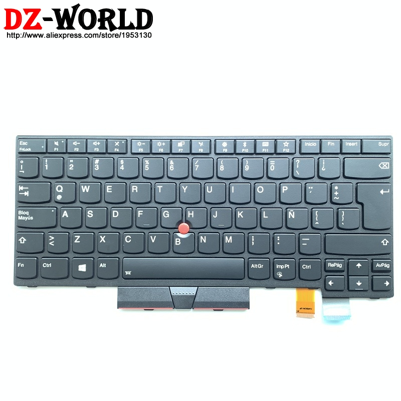 New/Orig ES SPA LAS Latin American Spanish Backlit Keyboard for Thinkpad T470 A475 T480 Teclado 01AX572 01AX531 01AX490-in Replacement Keyboards from Computer & Office on