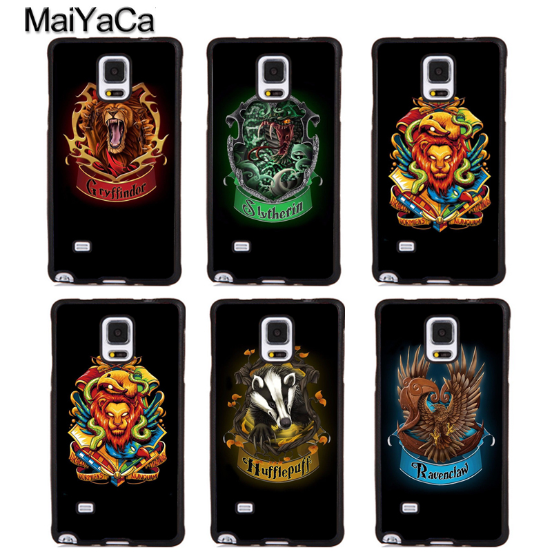 MaiYaCa harry potter Gryffindor Hogwarts Slytherin Rubber Phone Cases For Samsung Galaxy S6 S7 edge plus S8 S9 Note 4 5 8 Cover