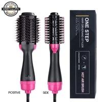 1000W One Step Dryer Hair Dryer Brush 2 In 1 Negative Ion Hair Curler Straightener Electric Blow Dryer Comb Hair Brush styler