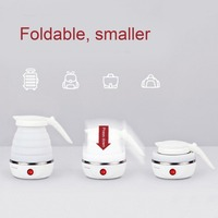 0 6L Compact Size Home Electric Kettle Durable Silicone Foldable 850W Portable Travel Camping Water Boiler