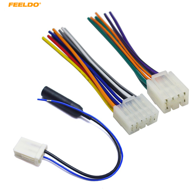 FEELDO 1Set Car Audio Stereo Wiring Harness Adapter Plug For Toyota on stereo cable, stereo wiring adapter, auto stereo harness, seat belt harness, stereo wiring kit,