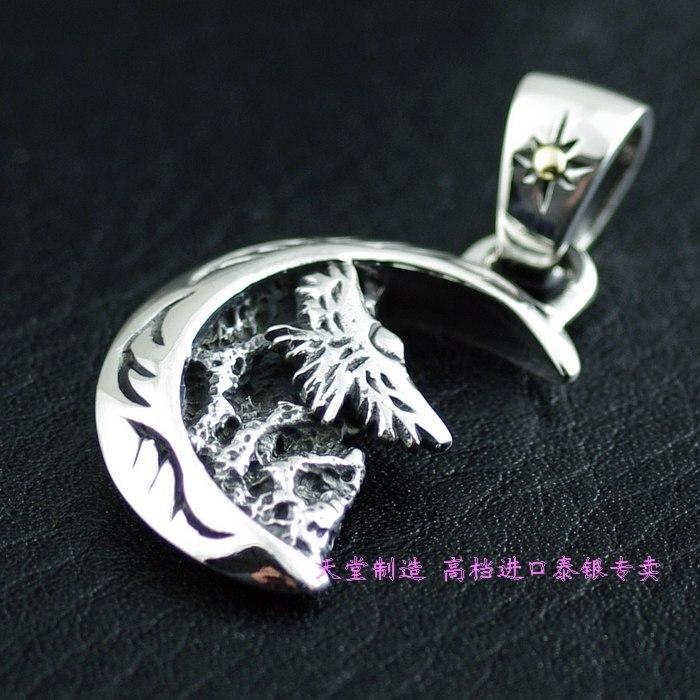 925 pure silver thai silver moon pendant925 pure silver thai silver moon pendant
