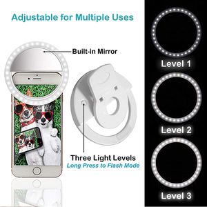 Image 3 - 2019 Selfie Ring Light USB Charge Selfie Portable Flash Led Camera Phone Photography Ring Light Enhancing Photography for iPhone