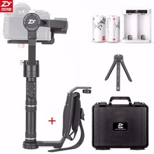 Zhiyun Crane Plus 3 Axis Handheld Gimbal Stabilizer 2.5KG for Sony Canon Nikon Fujifilm Dsrls Camera+Zhiyun Single Handle Grip moza air 3 axis dslr handheld gimbal stabilizer dual handle case for canon nikon sony a7 cameras load 3 2 kg vs zhiyun crane