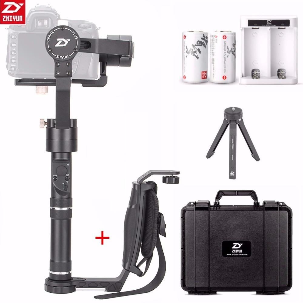Zhiyun Grue Plus 3 Axes De Poche Cardan Stabilisateur 2.5 KG pour Sony Canon Nikon Fujifilm Dsrls Caméra + Zhiyun Unique poignée Grip