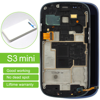 5pcs I8190 LCD Touch Screen Frame For Samsung Galaxy S3 Mini I8190 Lcd Display With Free