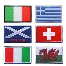European Italy EU Greece Spain France Portugal Germany UK Austria Ukraine Scotland England Ireland Czech Flag Embroidery Patches