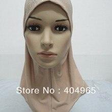 H267b стиль маленький хиджаб для девочки, быстрая, разные цвета, можно заказать один дюжина всех Белых