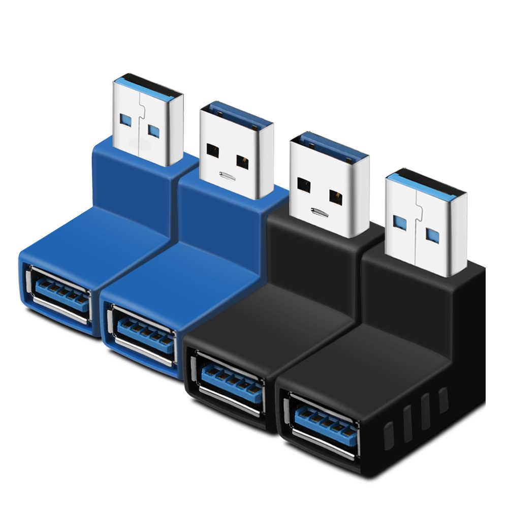 Yeni 90 Derece USB 3.0 A Erkek Kadın AM/AF Sol Ve Sağ Açılı Adaptör  Konnektörü adaptör fiş Için dizüstü/pc bilgisayar|Computer Cables &  Connectors