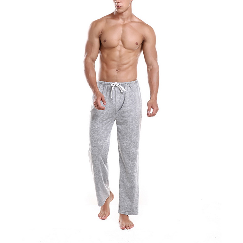 MoneRffi Mens Pajamas Pant Loose Solid Lounge Pant Sleepwear Male Comfy Breathable Casual Sleep Bottoms Trouser For Four Seasons